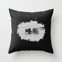 Surrounded By Your Frien… Throw Pillow