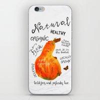 Watercolor pumpkin iPhone & iPod Skin