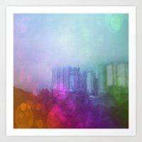 Busan Fog Art Print