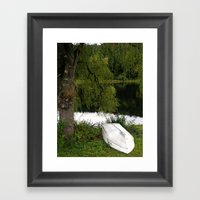 At The Pond Framed Art Print