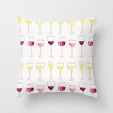 Wine Collection Throw Pillow