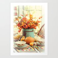 The Autumn Table Art Print