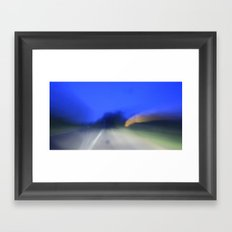 as i said, it was a long drive Framed Art Print