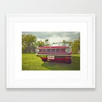 Ready for a ride! Framed Art Print