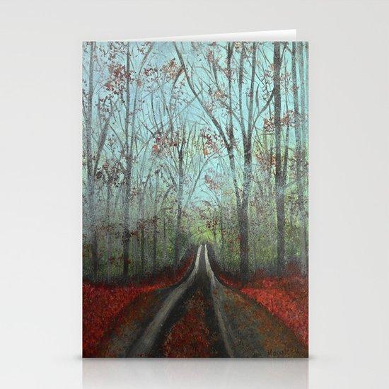 Misty Forest Stationery Card