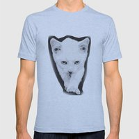 cat Mens Fitted Tee Athletic Blue SMALL