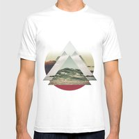 Perceptions Landscapes Mens Fitted Tee White SMALL
