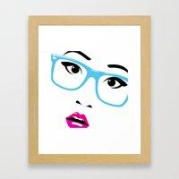 Huh? Framed Art Print