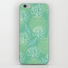 Pastel Peony and Leaf Pattern Design  iPhone & iPod Skin
