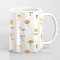 Paper Cut Flowers Mug