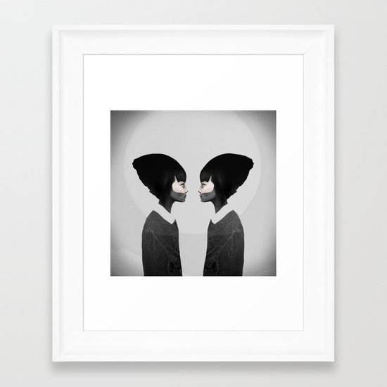A Reflection Framed Art Print