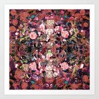 Pink Spot Floral Art Print