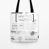 All Art Is Quite Useless… Tote Bag