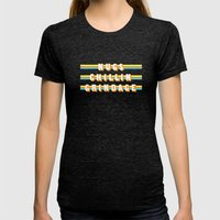 Encino Man (Rule of Threes) Womens Fitted Tee Tri-Black SMALL