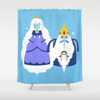 Ice Couple Shower Curtain