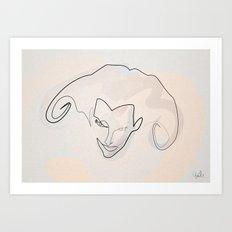 One line Aeon Flux Art Print