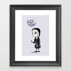 Wednesday Balloon Framed Art Print