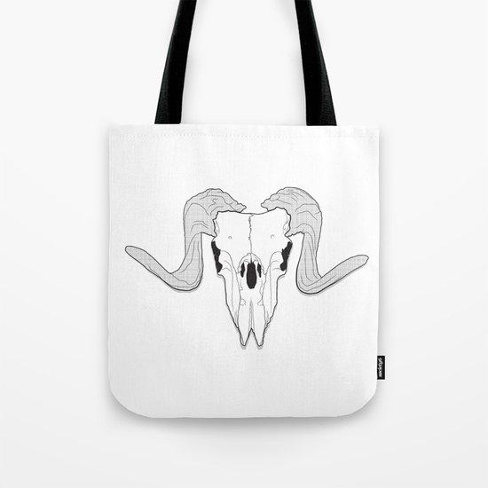 Ram Skull Tote Bag