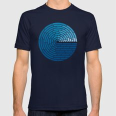 Almighty Ocean Mens Fitted Tee Navy SMALL