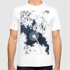 Diente de León SMALL White Mens Fitted Tee