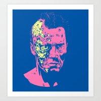 Terminator (neon) Art Print