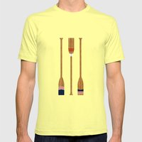 American Painted Oars Mens Fitted Tee Lemon SMALL