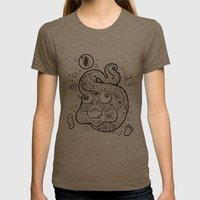 The Golden Eel (in Black) Womens Fitted Tee Tri-Coffee SMALL