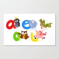 Vowels Canvas Print