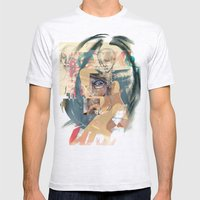 Abstract Mens Fitted Tee Ash Grey SMALL