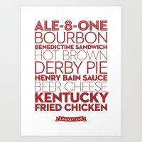 Louisville —Delicious City Prints Art Print