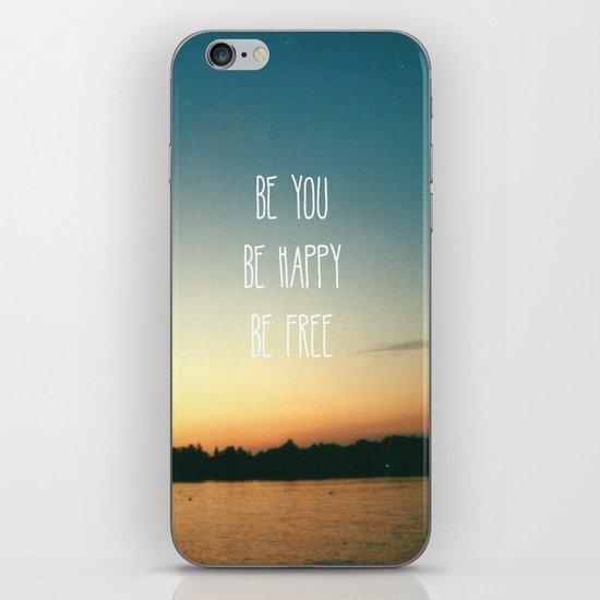 Be happy iPhone & iPod Skin
