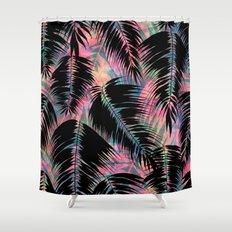 Maui Palm {Black A} Shower Curtain