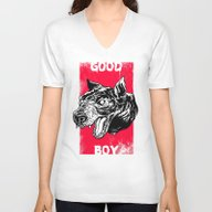 Unisex V-Neck featuring GOOD BOY by Lokhaan