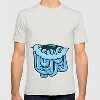 viscera : blue razz Mens Fitted Tee Silver SMALL