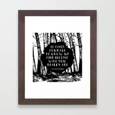 Courage (Designed for The YA Chronicles) Framed Art Print