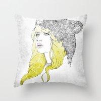 Goldilocks Throw Pillow