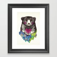Bear yeah Framed Art Print