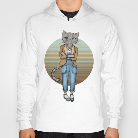 Hipster Kitty Cool Hoody