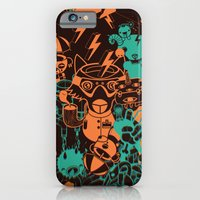 iPhone & iPod Case featuring Dream Factory Orange and Blue by Stephen Chan