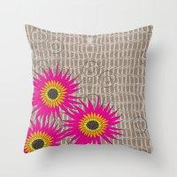 Flower Collage Throw Pillow