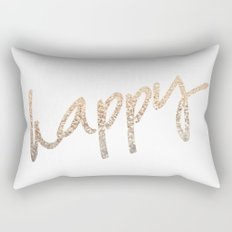 GOLD HAPPY Rectangular Pillow