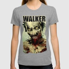 UNDEAD Womens Fitted Tee Tri-Grey SMALL