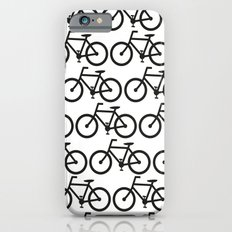 Bicycle Stamp Pattern - Black and White - Fixie Fixed Gear Bike iPhone 6s Slim Case