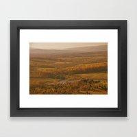 Valley in the Sun Framed Art Print