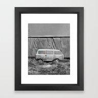 Framed Art Print featuring Van by Bekim ART