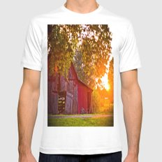 Open Door  SMALL White Mens Fitted Tee