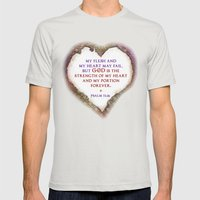 The Strength of My Heart Mens Fitted Tee Silver SMALL