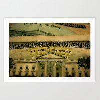 money in God we trust Art Print