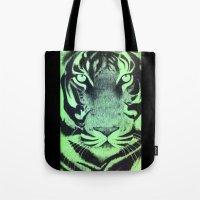 Be A Tiger (Green) Tote Bag