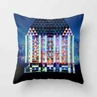 Mad Hatter's House Throw Pillow